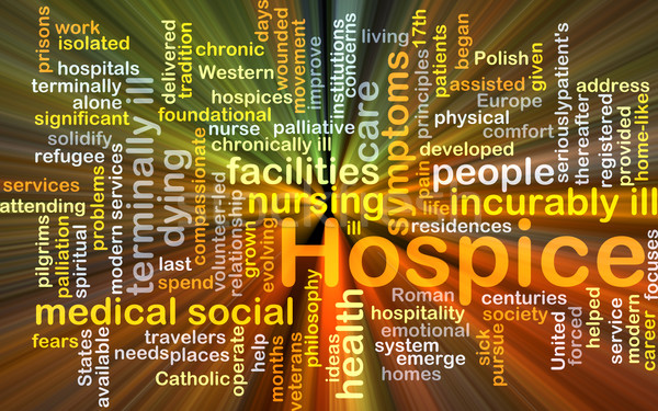 Hospice background concept glowing Stock photo © kgtoh