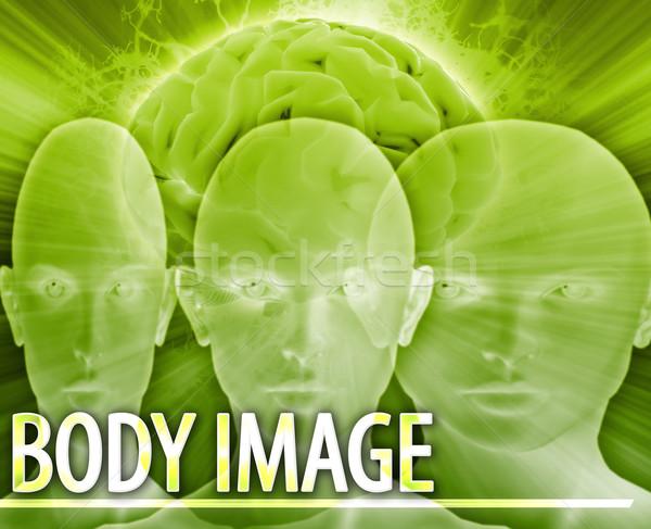 Corpo imagem abstrato ilustração digital digital colagem Foto stock © kgtoh