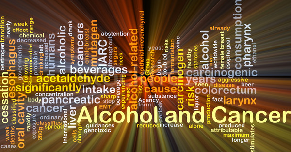 Alcohol and cancer background concept glowing Stock photo © kgtoh