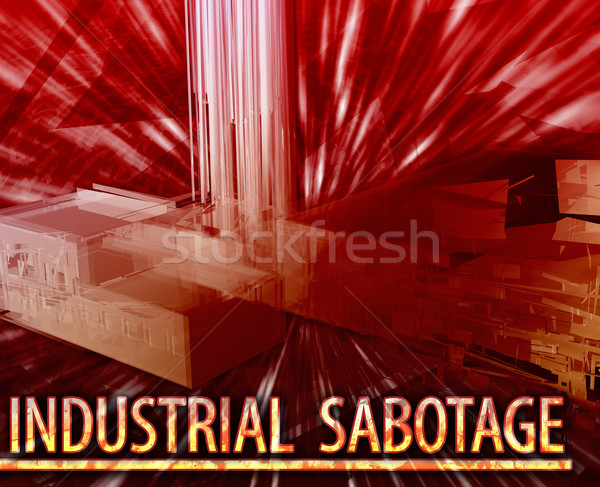 Industriali sabotaggio abstract illustrazione digitale digitale collage Foto d'archivio © kgtoh