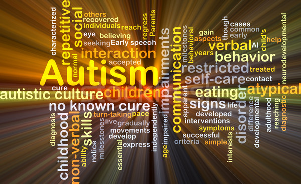 Autism background concept glowing Stock photo © kgtoh