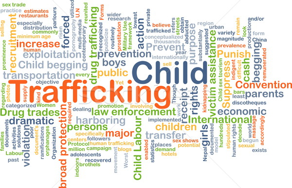 Child trafficking background concept Stock photo © kgtoh