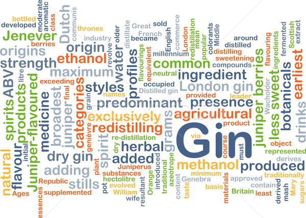 Gin background concept Stock photo © kgtoh