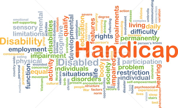 Handicap background concept Stock photo © kgtoh