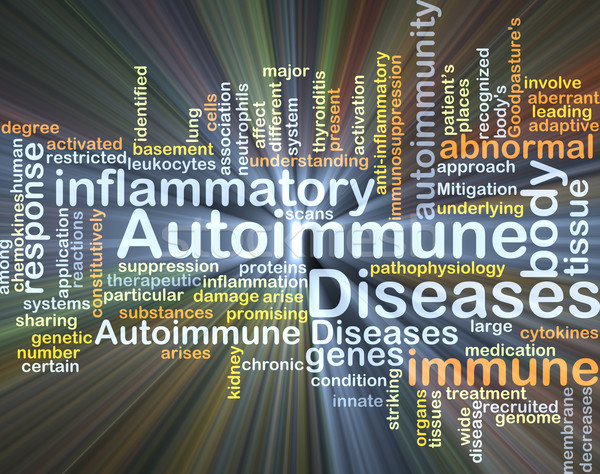 Autoimmune disease background concept glowing Stock photo © kgtoh