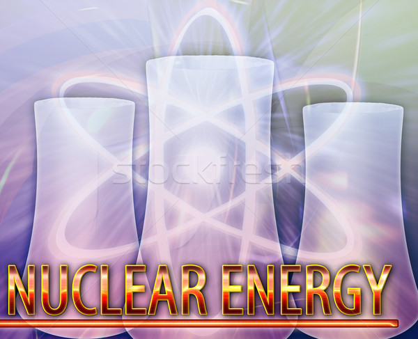 Nuclear energy Abstract concept digital illustration Stock photo © kgtoh