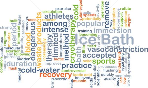 Ice bath background concept Stock photo © kgtoh