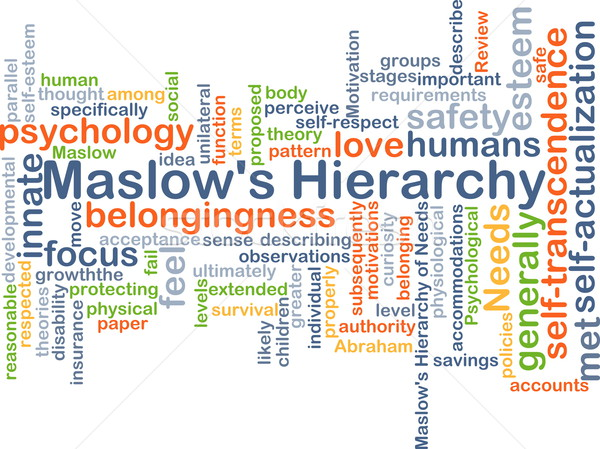 Marslow's Hierachy background concept Stock photo © kgtoh