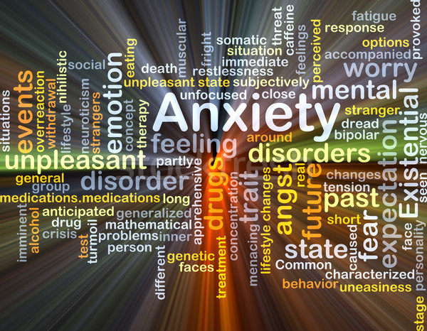 Anxiety background concept glowing Stock photo © kgtoh