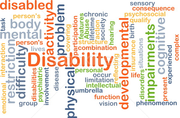 Disability background concept Stock photo © kgtoh