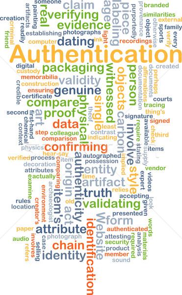 Háttér szófelhő illusztráció terv felhő weboldal Stock fotó © kgtoh