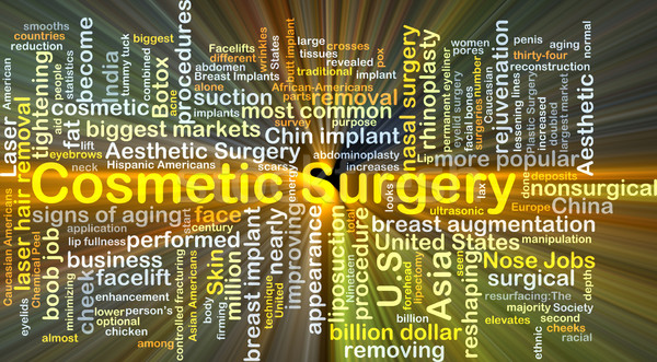 Cosmetic surgery background concept glowing Stock photo © kgtoh