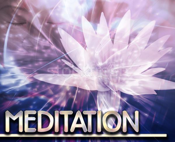 Meditação abstrato ilustração digital digital colagem ilustração Foto stock © kgtoh
