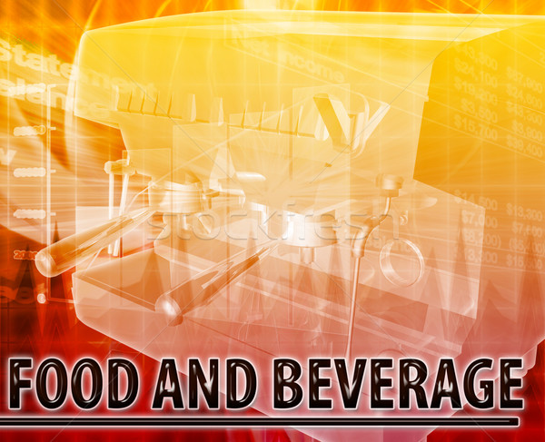 Food & Beverage Abstract concept digital illustration Stock photo © kgtoh