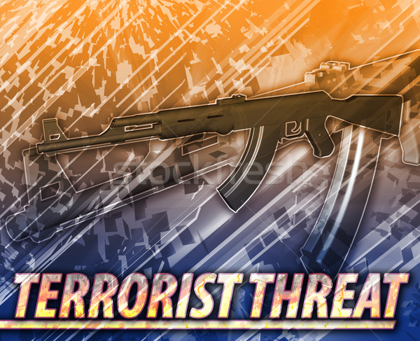 Terrorist threat Abstract concept digital illustration Stock photo © kgtoh