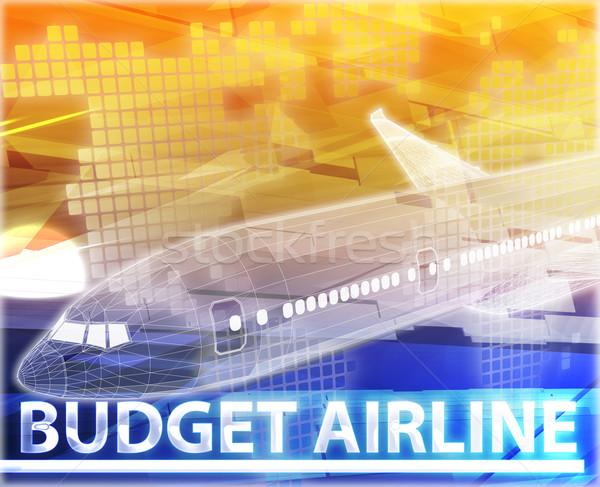 Orçamento companhia aérea abstrato ilustração digital digital colagem Foto stock © kgtoh