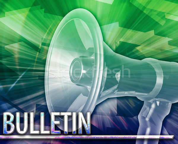 Bulletin Abstract concept digital illustration Stock photo © kgtoh