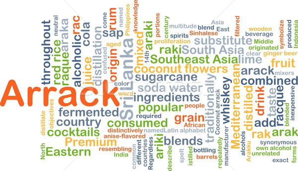 Arrack background concept Stock photo © kgtoh