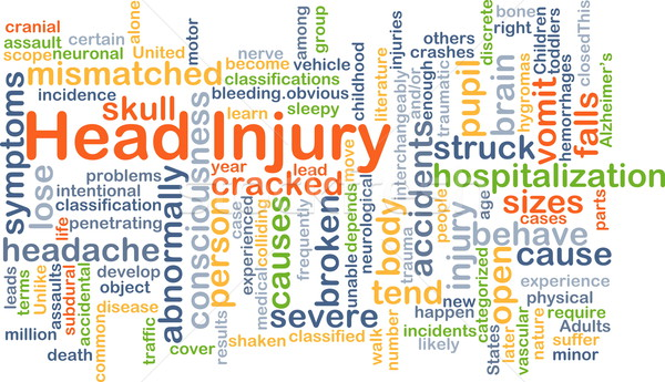 Head injury background concept Stock photo © kgtoh