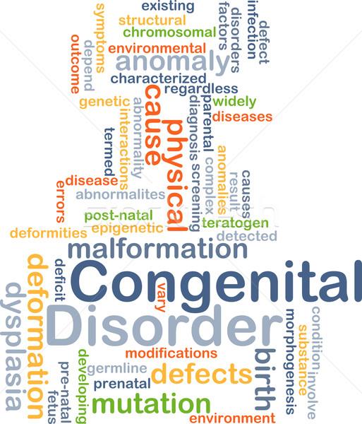 Congenital disorder background concept Stock photo © kgtoh