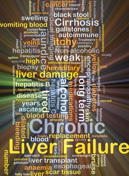 Chronic liver failure background concept glowing Stock photo © kgtoh