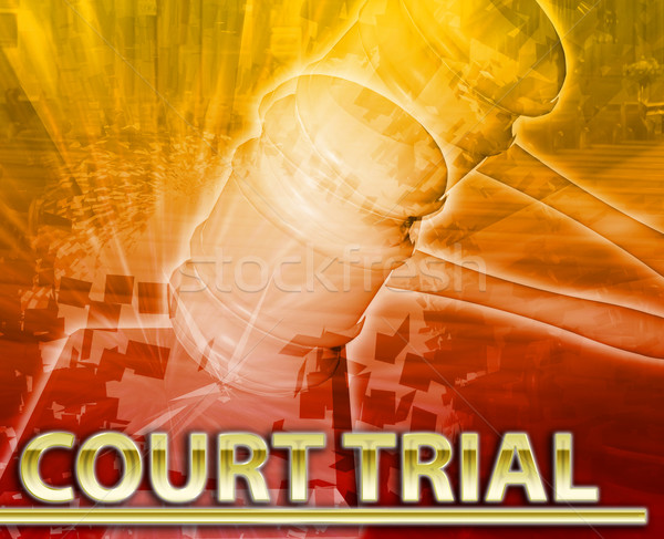 Court trial Abstract concept digital illustration Stock photo © kgtoh