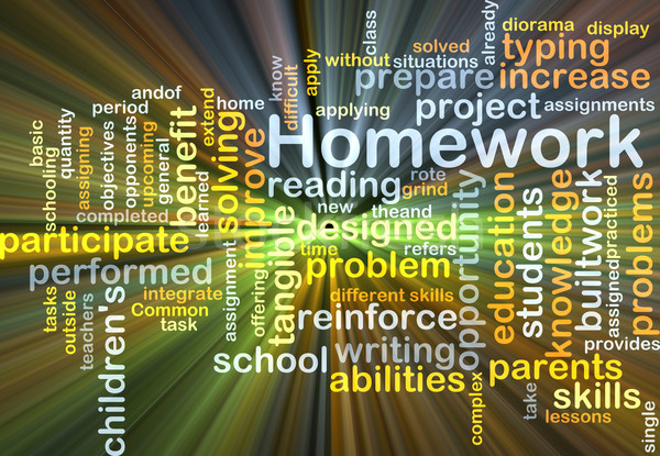 Homework background concept glowing Stock photo © kgtoh