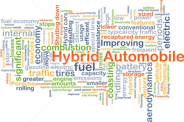 Hybride automobile fond illustration design Photo stock © kgtoh