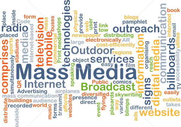Mass media background concept Stock photo © kgtoh