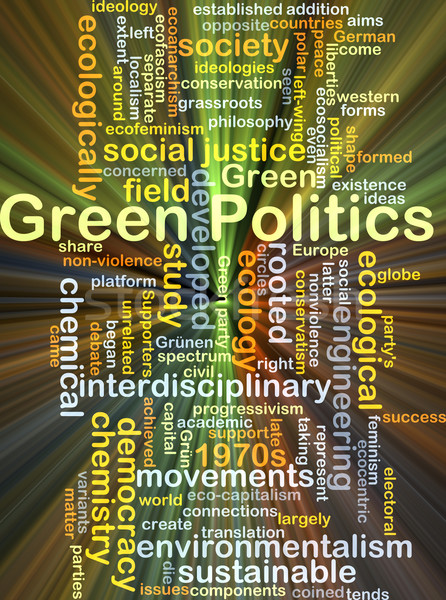 Green politics background concept glowing Stock photo © kgtoh