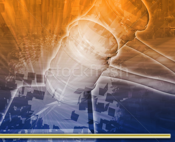 Judicial hearing Abstract concept digital illustration Stock photo © kgtoh