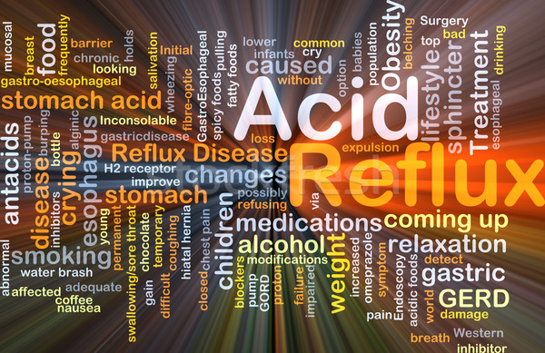 Acid reflux background concept glowing Stock photo © kgtoh