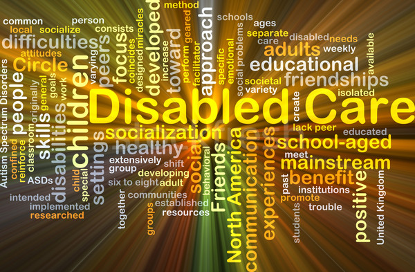 Disabled care background concept glowing Stock photo © kgtoh