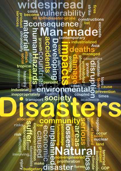 Disasters background concept glowing Stock photo © kgtoh