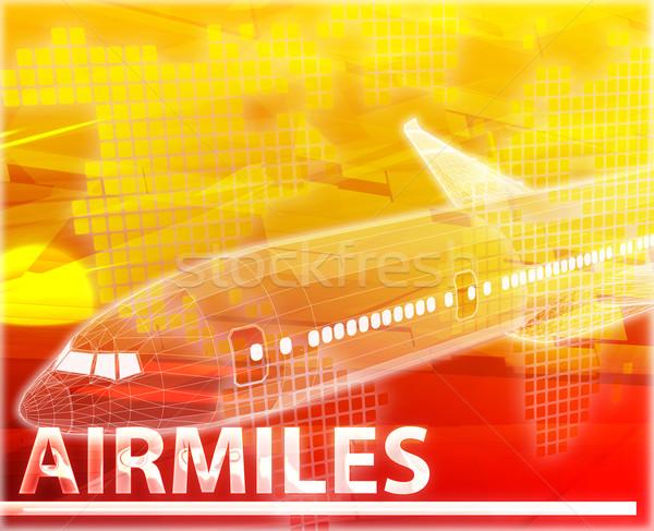 воздуха мили аннотация Цифровая иллюстрация цифровой коллаж Сток-фото © kgtoh