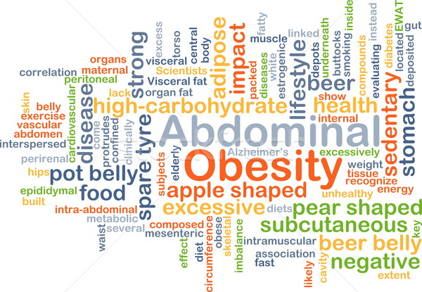 Abdominal obesity background concept Stock photo © kgtoh