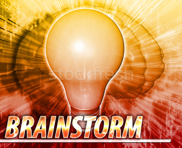 Brainstorm Abstract concept digital illustration Stock photo © kgtoh