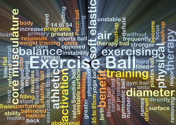 Exercise ball background concept glowing Stock photo © kgtoh