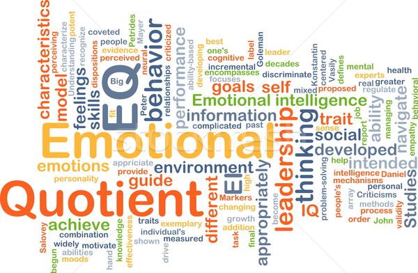 Emotional Quotient EQ background concept Stock photo © kgtoh