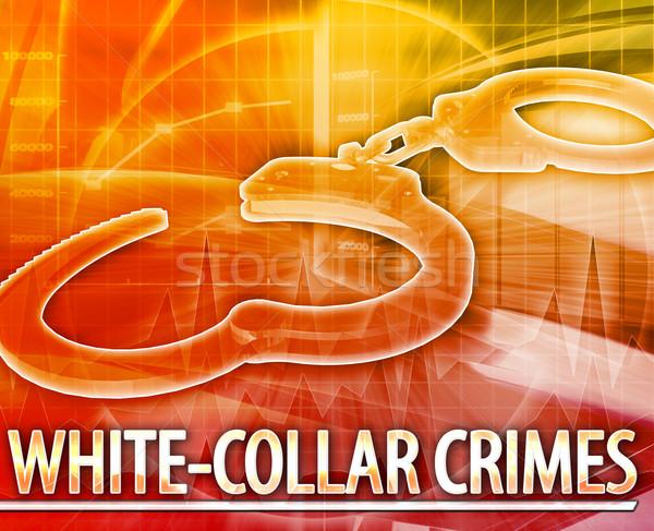 Criminalità abstract illustrazione digitale digitale collage illustrazione Foto d'archivio © kgtoh