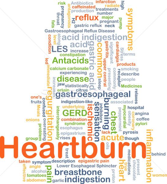 Heart burn background concept Stock photo © kgtoh