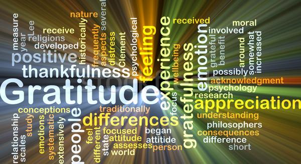 Gratitude background concept glowing Stock photo © kgtoh