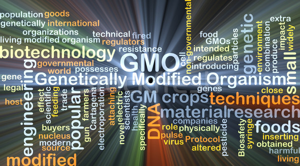Genetically modified organism GMO background concept glowing Stock photo © kgtoh