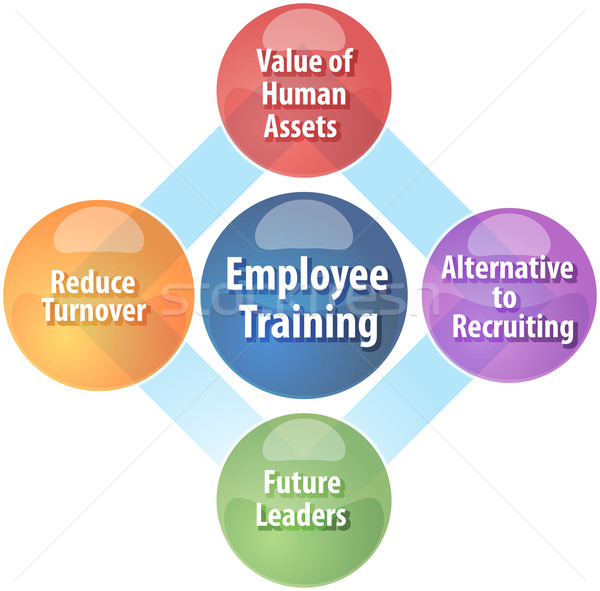 Employee training business diagram illustration Stock photo © kgtoh