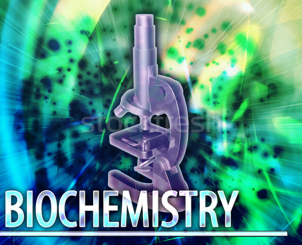 Biochemistry Abstract concept digital illustration Stock photo © kgtoh