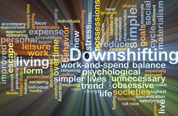 Downshifting background concept glowing Stock photo © kgtoh