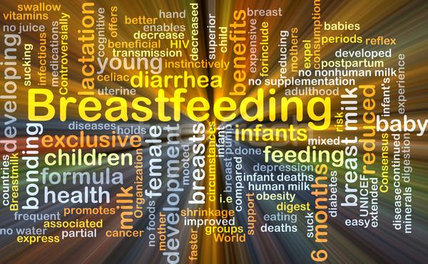 Breastfeeding background concept glowing Stock photo © kgtoh
