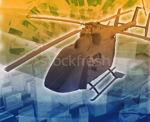 Helicopter evac Abstract concept digital illustration Stock photo © kgtoh