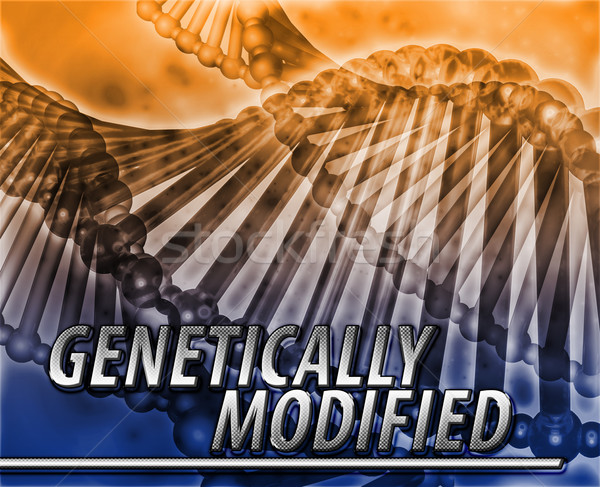 Genetically modified Abstract concept digital illustration Stock photo © kgtoh