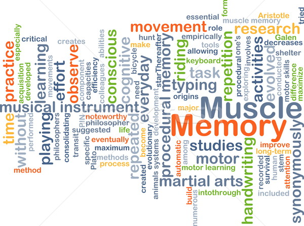 Muscle mémoire fond illustration design Photo stock © kgtoh